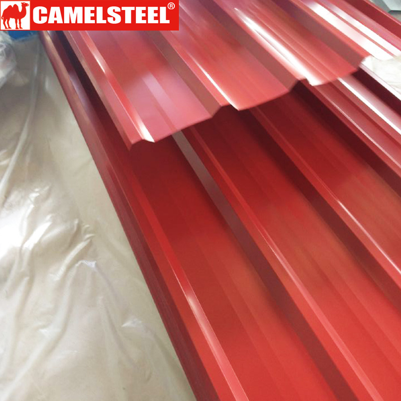Prepainted Galvanized Corrugated Glazed Steel Roofing Sheet
