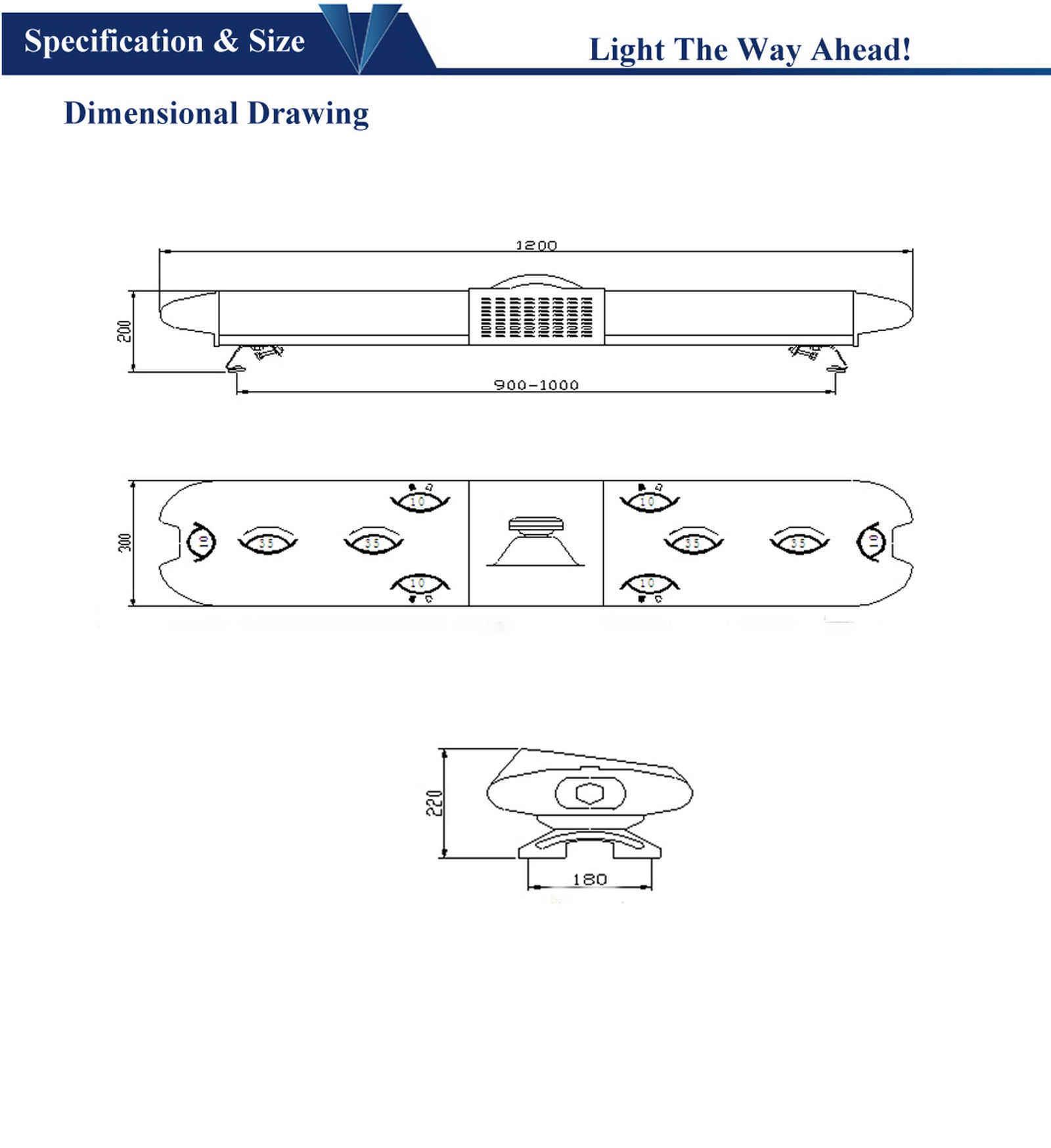 Halogen Rotating Warning Light Bar