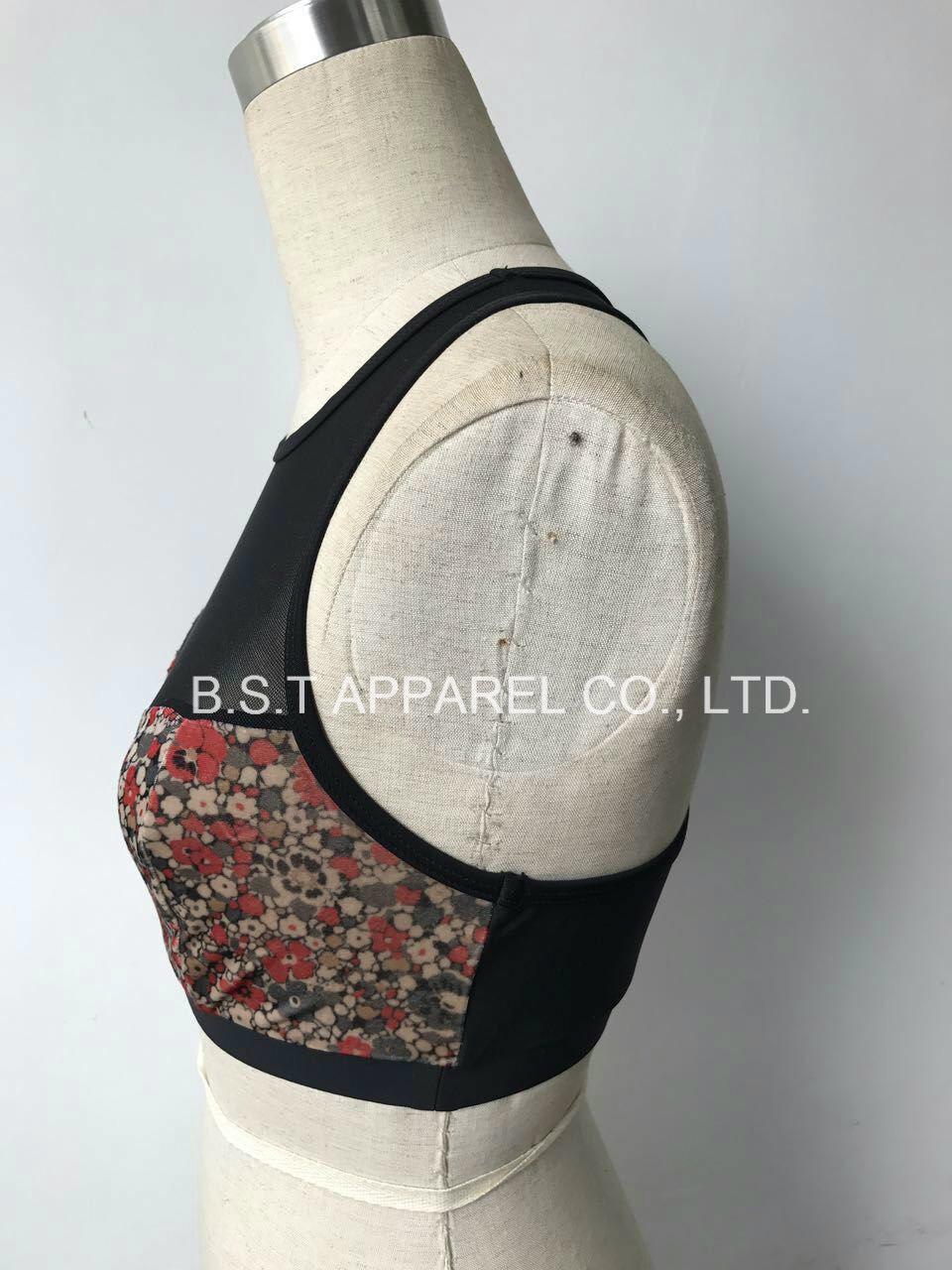 Sexy Mesh Velvet Printed Bralette (170204NW)