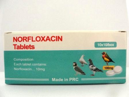 Norfloxacin Tablets 10mg (Pets Tablets)