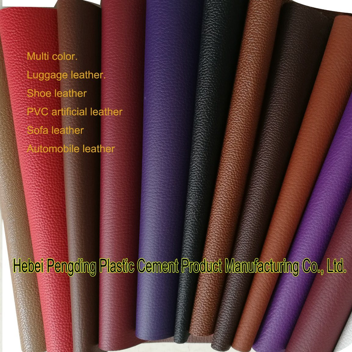 SGS Gold Certification Z038 PVC Outdoor Sports Shoe Leather Artificial Leather PVC Leather