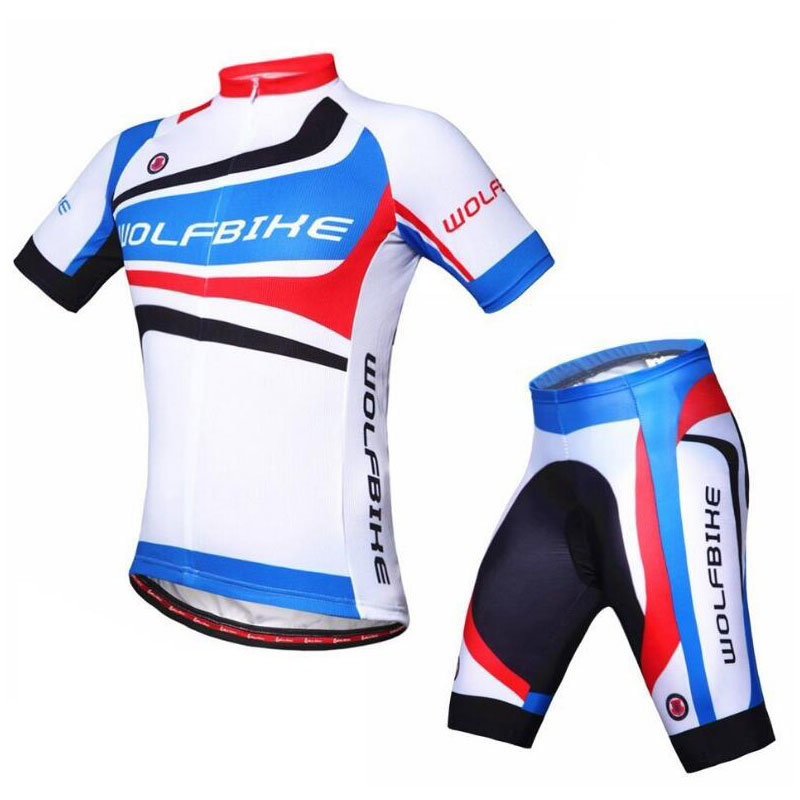 Customize Sublimate Cycling Uniform Cycling Wear Cycling Jersey and Shorts with Lycra Fabric