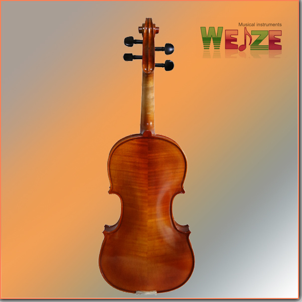 Handmade Flamed Violin (half handmade painting)
