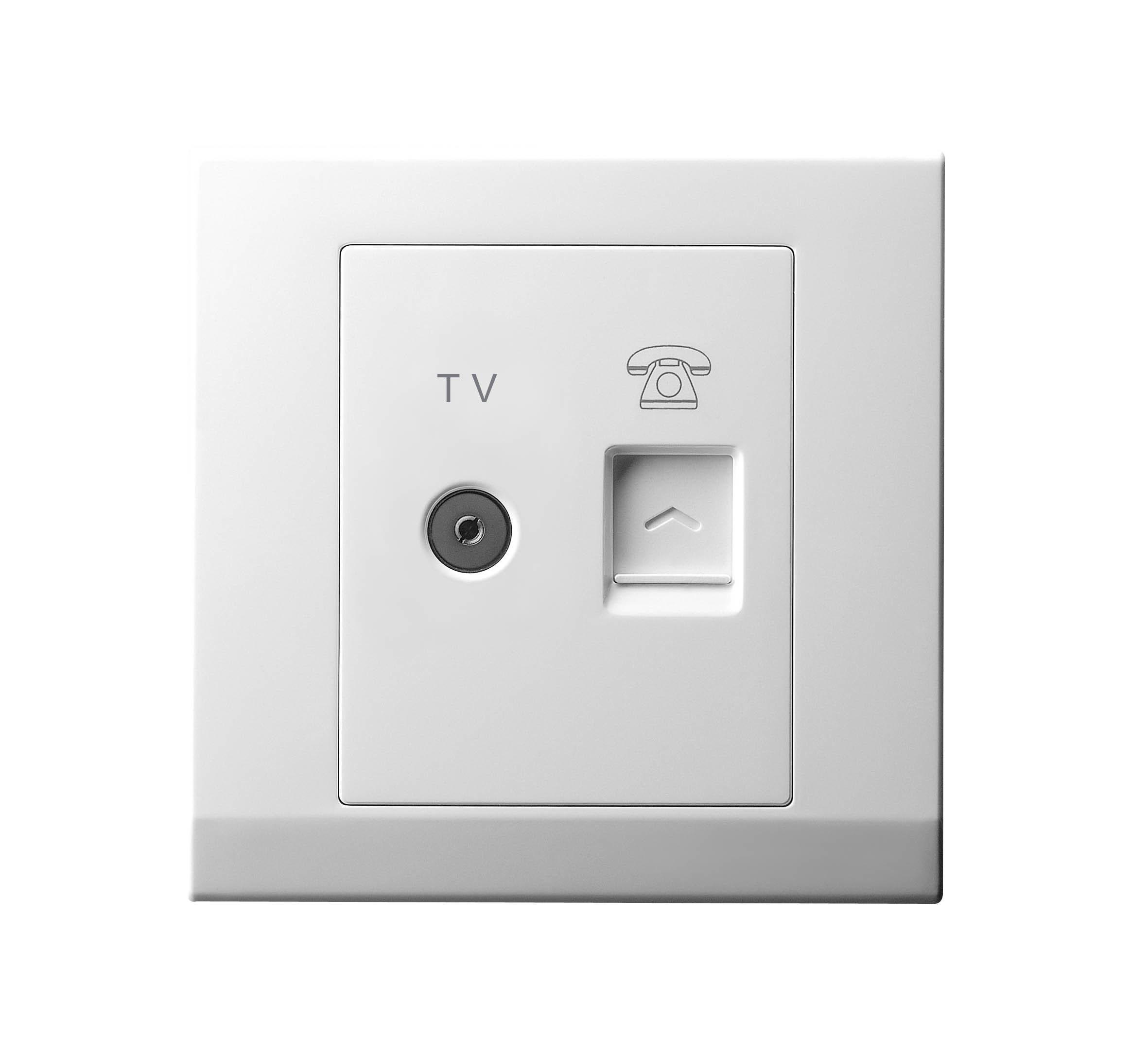Twin TV & Rj11 Telephone Outlet