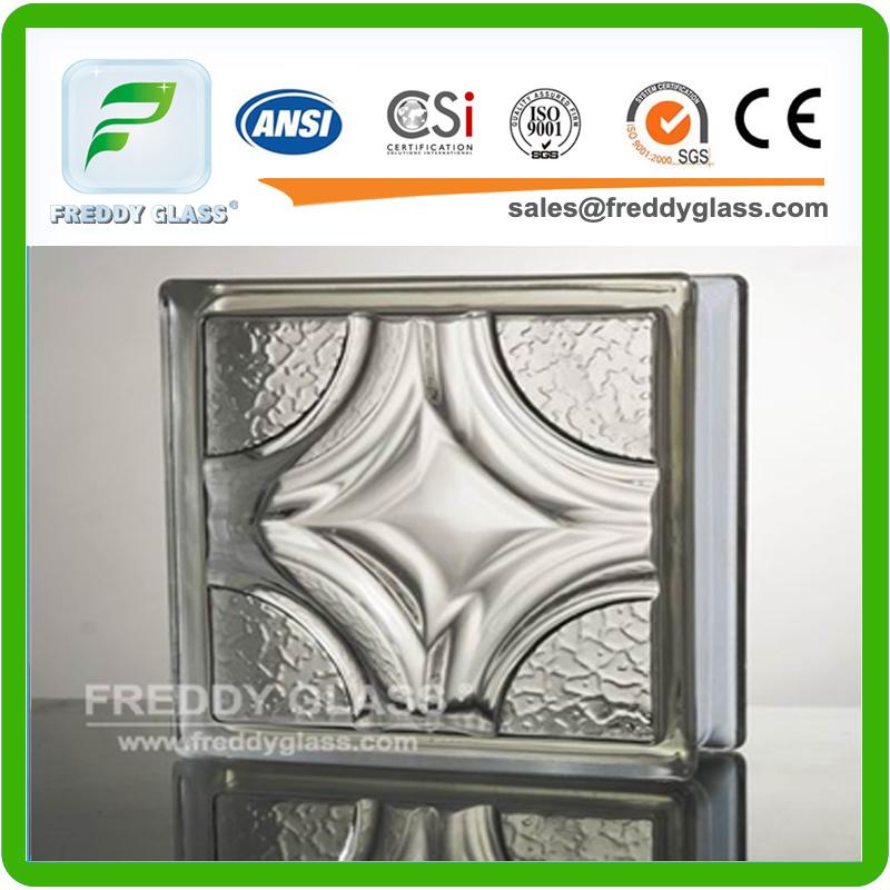 Mist, Mosaic, Oblique Line Glass Brick, Well Shape Glass Block/