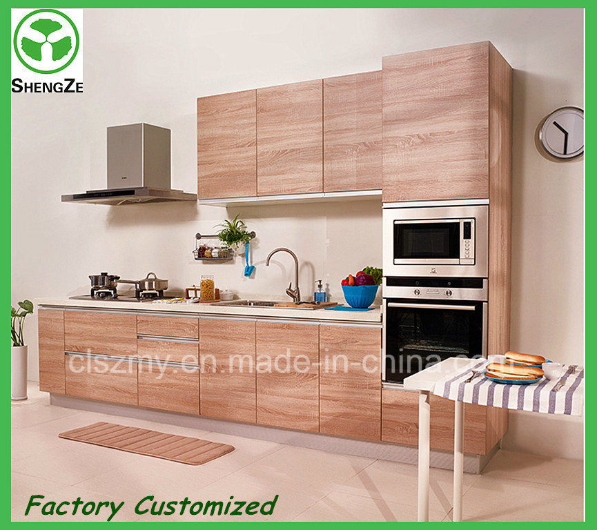 Shandong Cheap Lower Price Wood Grain Kitchen Furniture