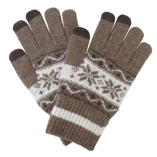 Men′s Fashion Winter Wool Knitted Touch Screen Magic Gloves (YKY5453)