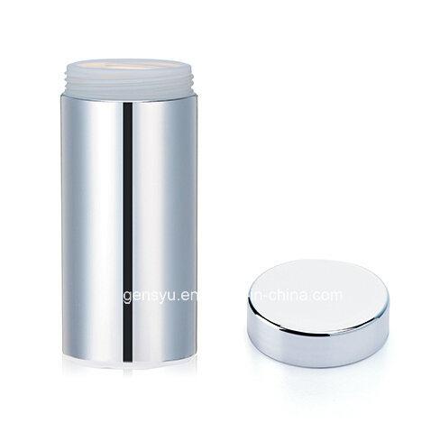 13 Oz HDPE Silver Chromed Plastic Canister Plastic Bottle