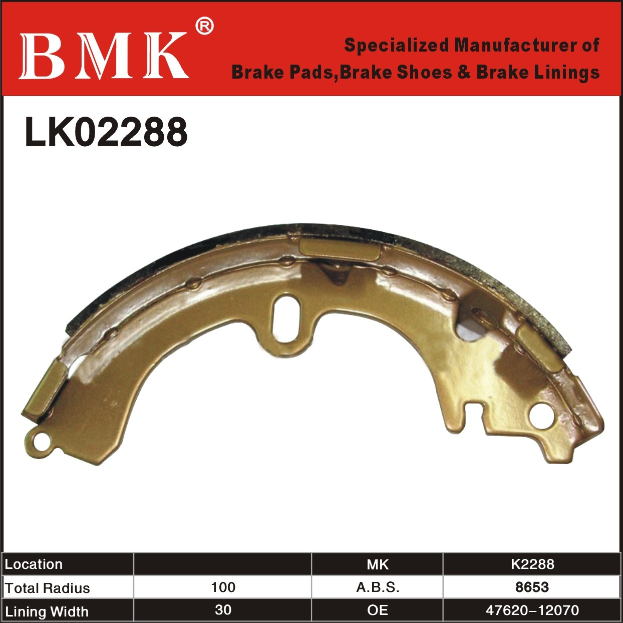 Advanced Quality Brake Shoes (K2288)