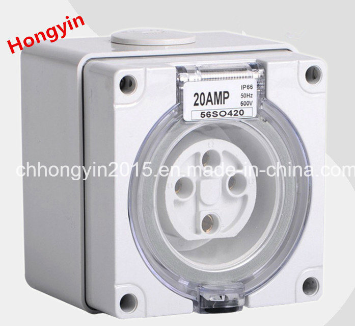 2015 4pin European Waterproof Industrial Socket Industrial Plug and Socket