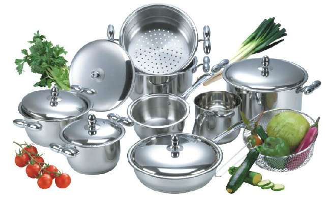 High Quality 14PCS Stainless Steel Cookware Set (CS114001)