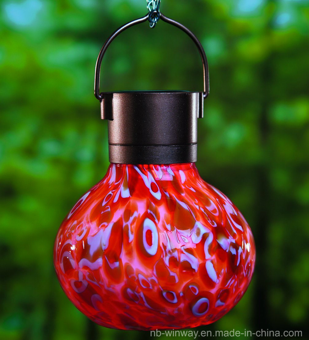 Weather Glass Solar Lava Lantern