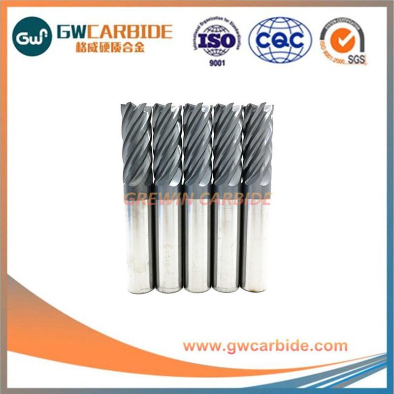 Tungsten Carbide 6 Flutes Flat End Mills