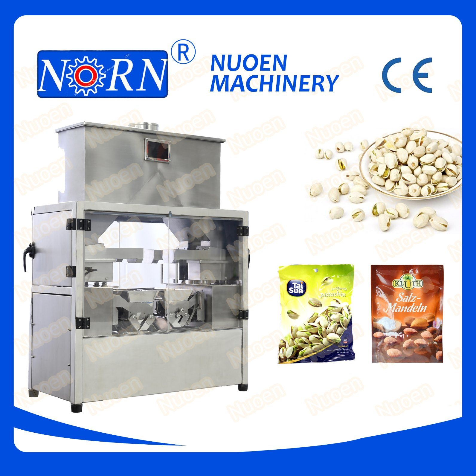 Nuoen Four Stations Automatic Weighing Machine for Particles/Powder