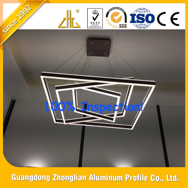 Aluminium Extrusion Factory Supplies LED Ceiling Light Aluminum Profile