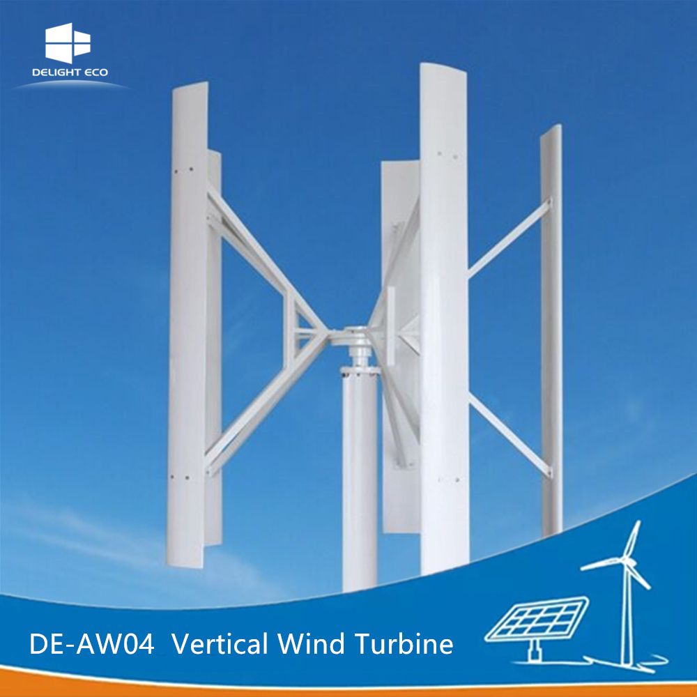 Delight Manufacturer De-Aw04 Vertical Axis Maglev Wind Power Generator Turbine
