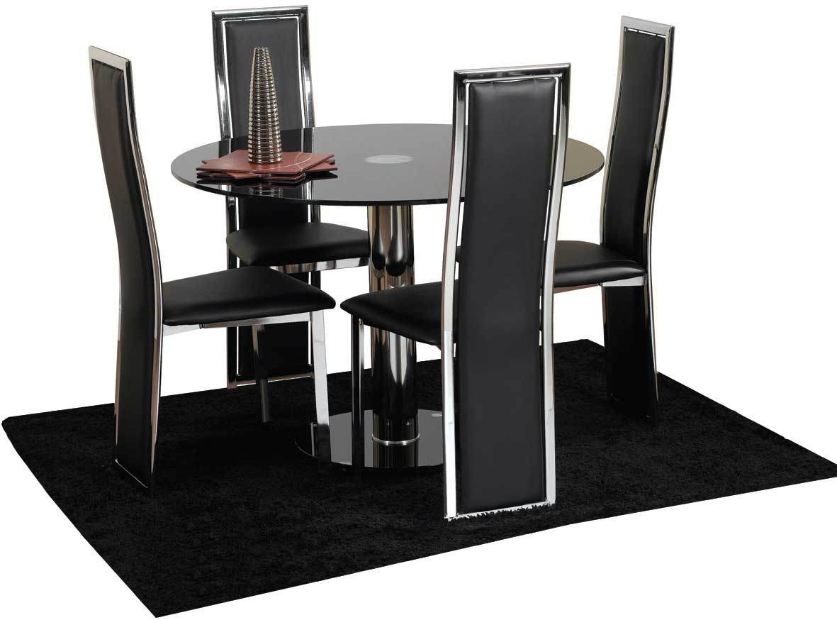 Dinette table and 4 chairs for Dinner table set for 4