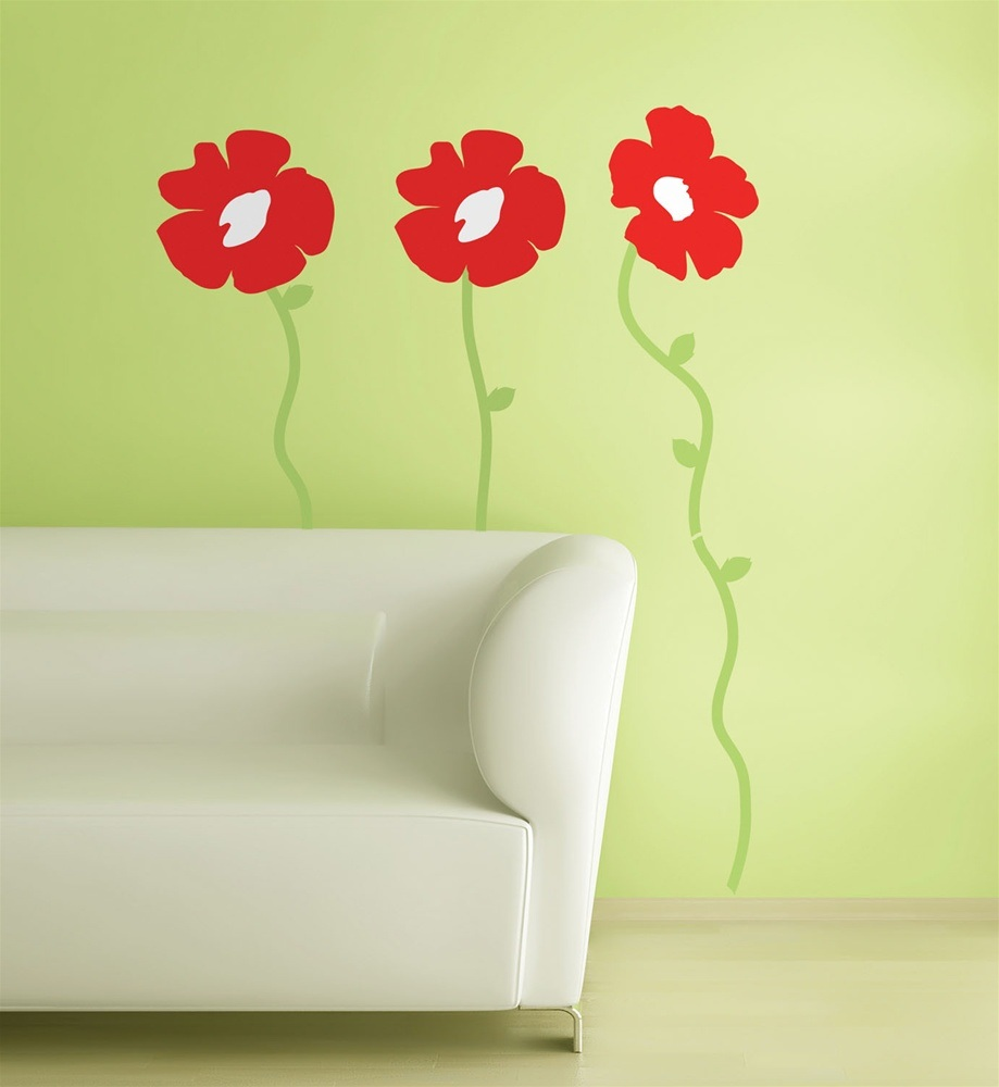 china red poppies wall sticker fk 1168gm china wall wallstickers folies poppy wall stickers