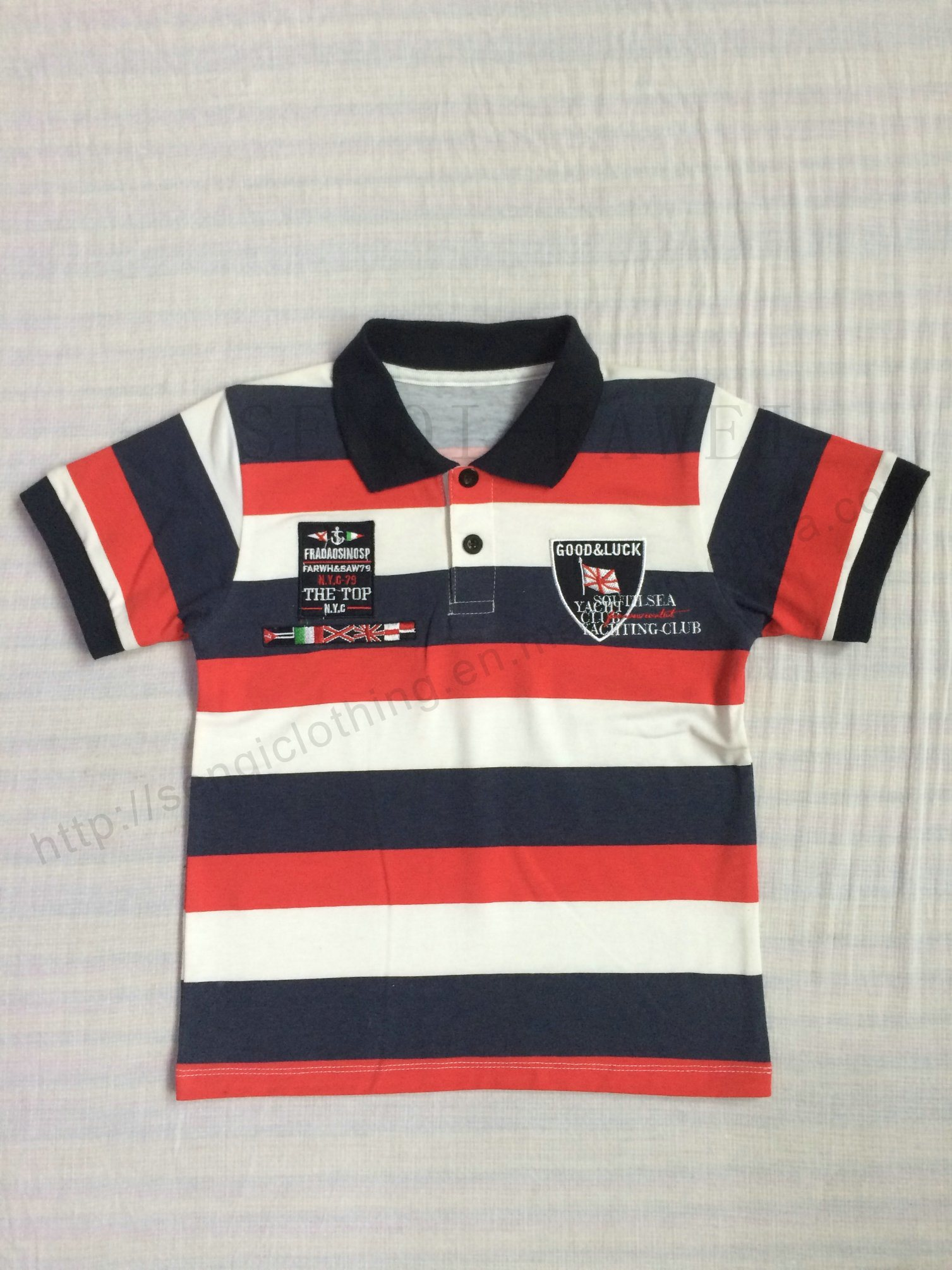 Hot Sale Boy Strip Polo Shirt in Kids Clothes Sq-6264