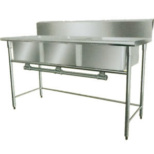 Commercial Triple Sink : ... Unique Triple Duty Commercial Triple Convenience Sinks Gauge Stainless