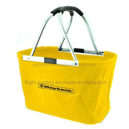Waterproof Folding Portable Picnic Supermarket Shopping Basket with Cool Function