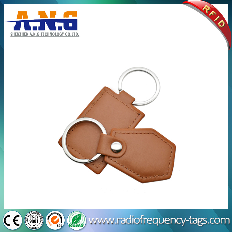 Custom 125kHz RFID Key Fob Leather RFID Key Chain