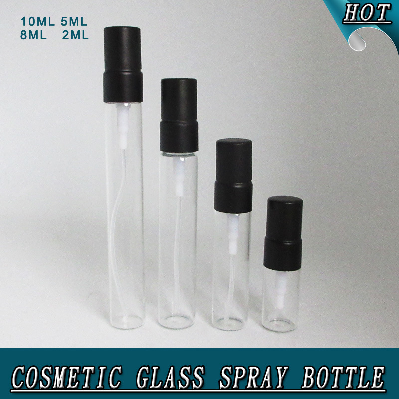 2ml 5ml 8ml 10ml Clear Cosmetic Refillable Glass Perfume Spray Bottle