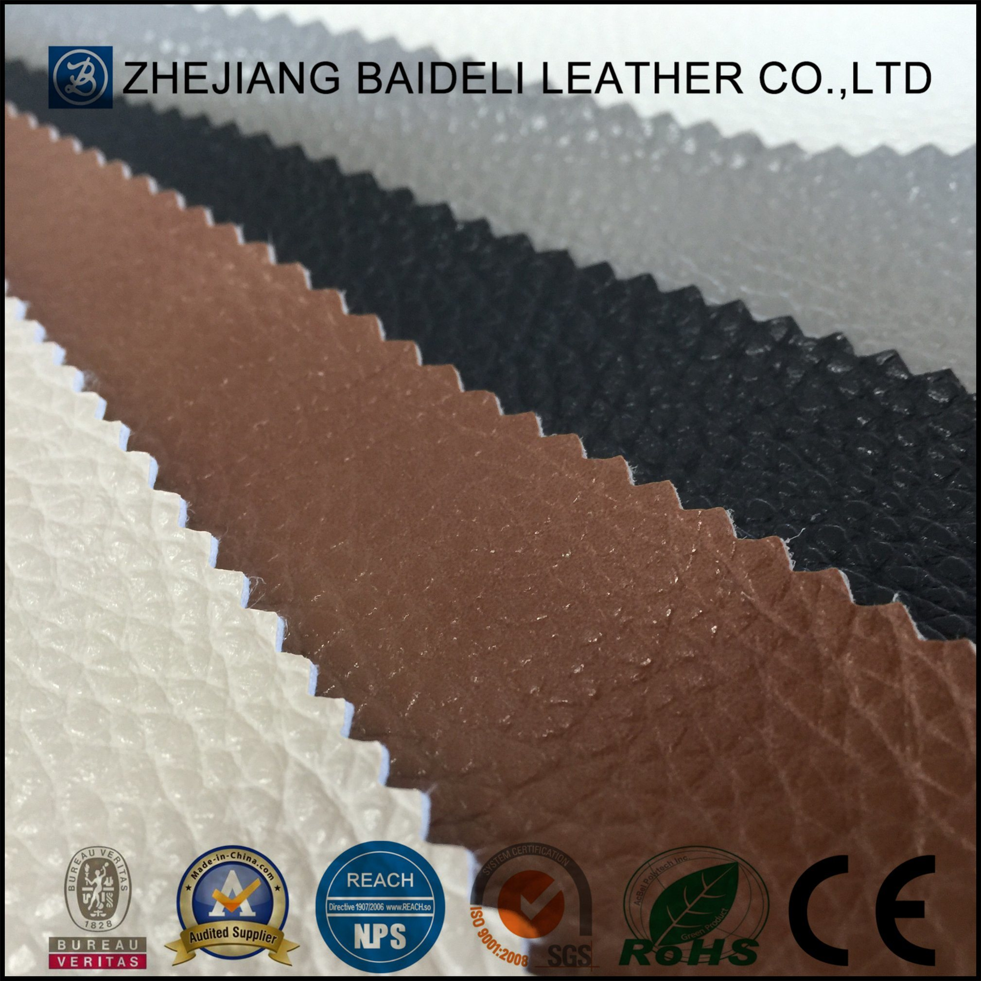 Microfiber PU/Synthetic Leather for Shoes and Bags