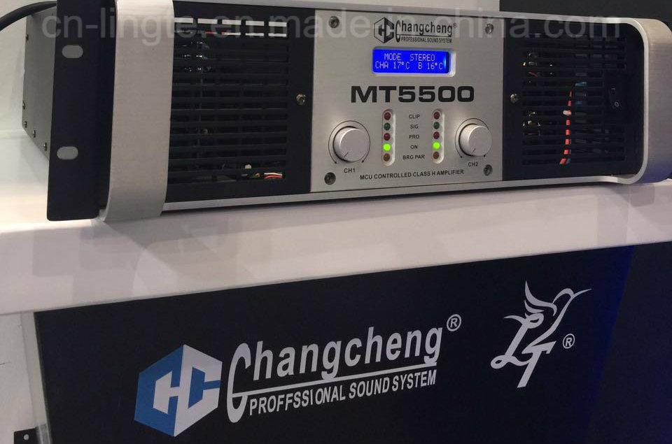 Mt5500 LCD Class H Professional Power Amplifier DJ