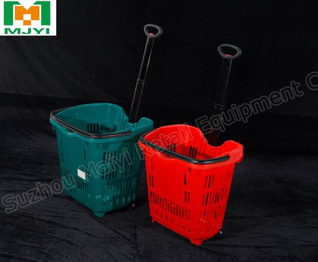 Supermarket Plastic Shopping Basket Convenient Shopping Basket