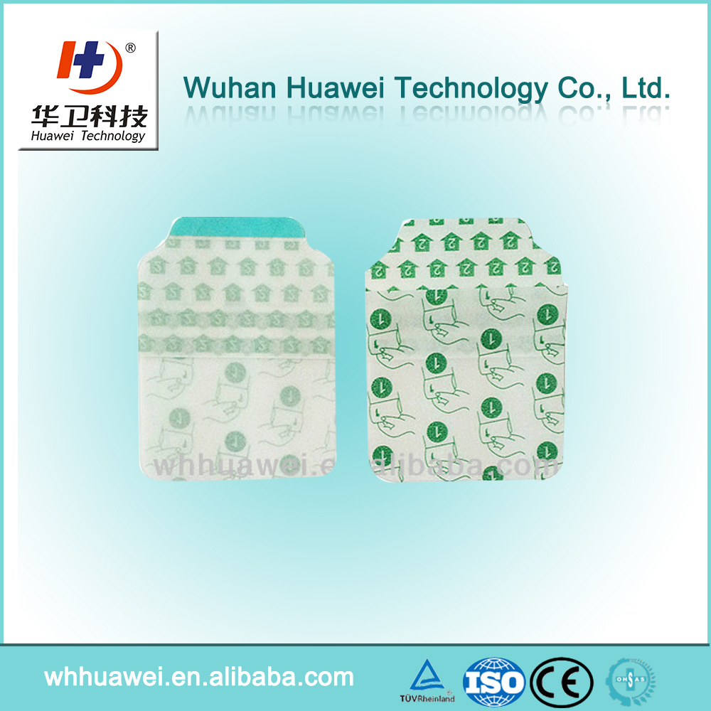 Transparent PU Film Sterile IV Catheter Dressing