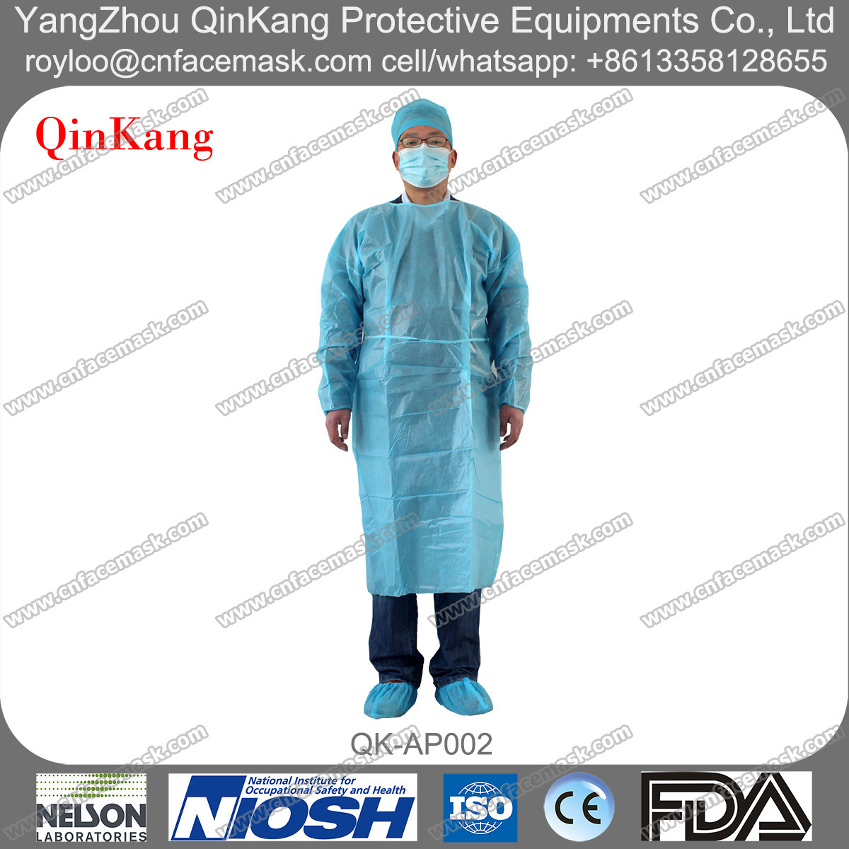 Disposable SMS Fluid Resistant Medical Surgical Protective Apron/Gown
