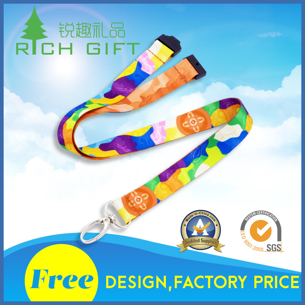 China Manufacturer Wholesale Neck/Polyester/Woven/Nylon/Printing/Sublimation/Mobile Phone Lanyard Strap with Logo Custom No Minimum