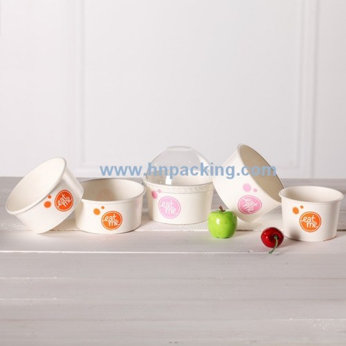 Low Price Colourful Paper Ice Cream Cups with Lid