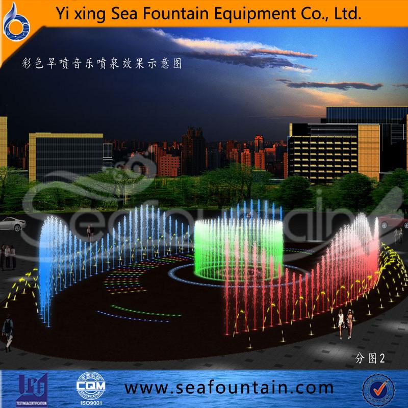 Seafountain Design Stainless Net Dry Floor Fountain