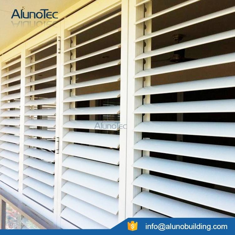 Window Shutter Sliding Shutter Aluminum Adjustable Exterior Shutters