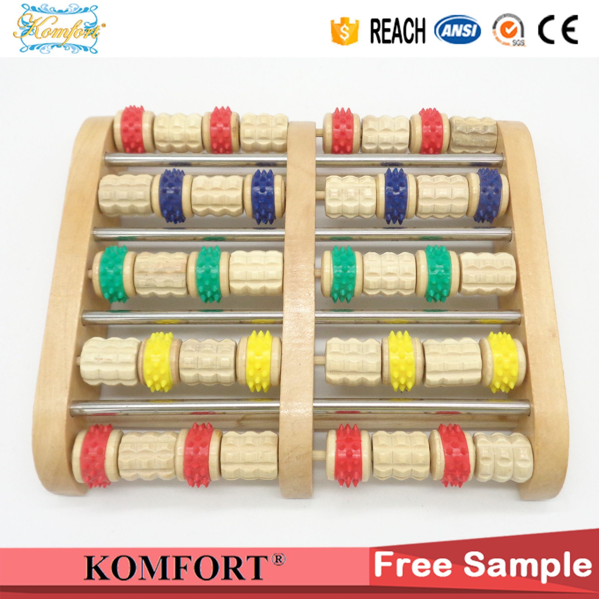 Beauty Products Skin Care Wooden Foot Massage Equipment Roller