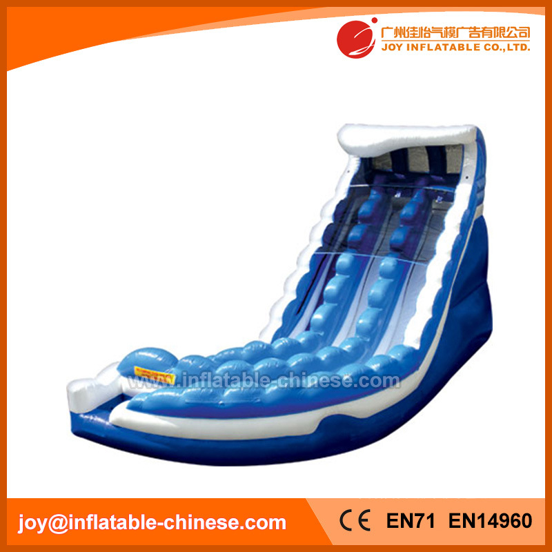 2 Lanes Inflatable Water Slide with Pool for Sale (T11-109)