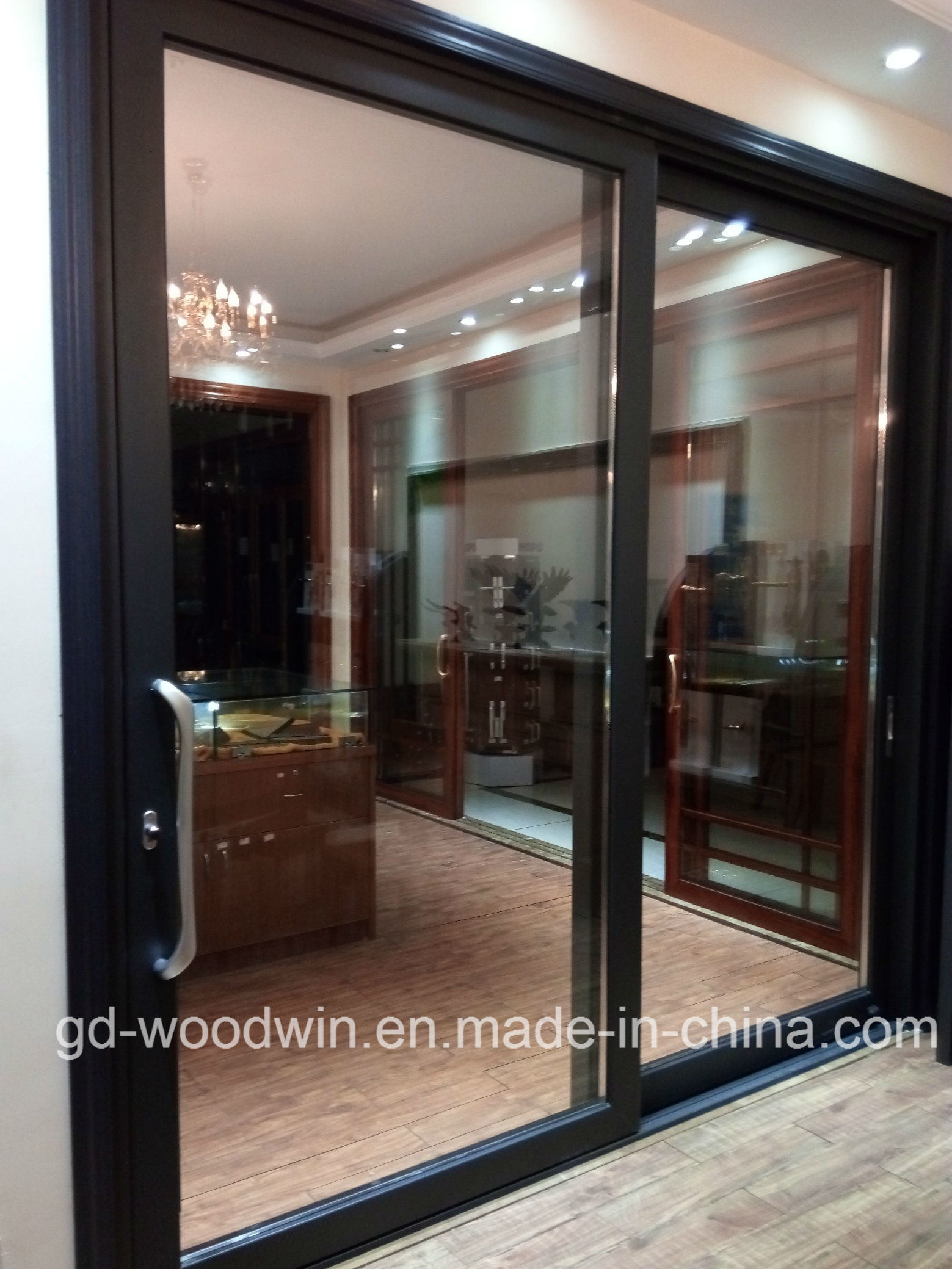 China Guangdong Woodwin Hot Seller Double Tempered Glass Aluminium Sliding Door (YS-120A) - China Aluminum Door Sliding Door & China Guangdong Woodwin Hot Seller Double Tempered Glass Aluminium ...