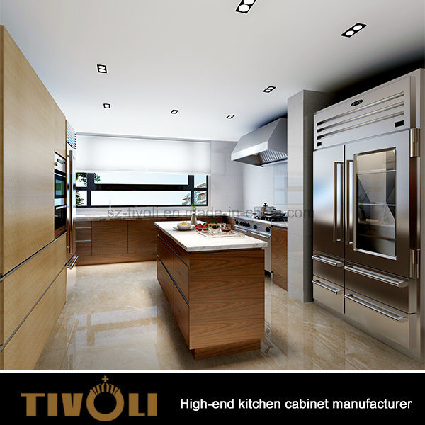 Luxury European design High End White Kitchen Cabinet with Finger Pull Design Tivo-0031h