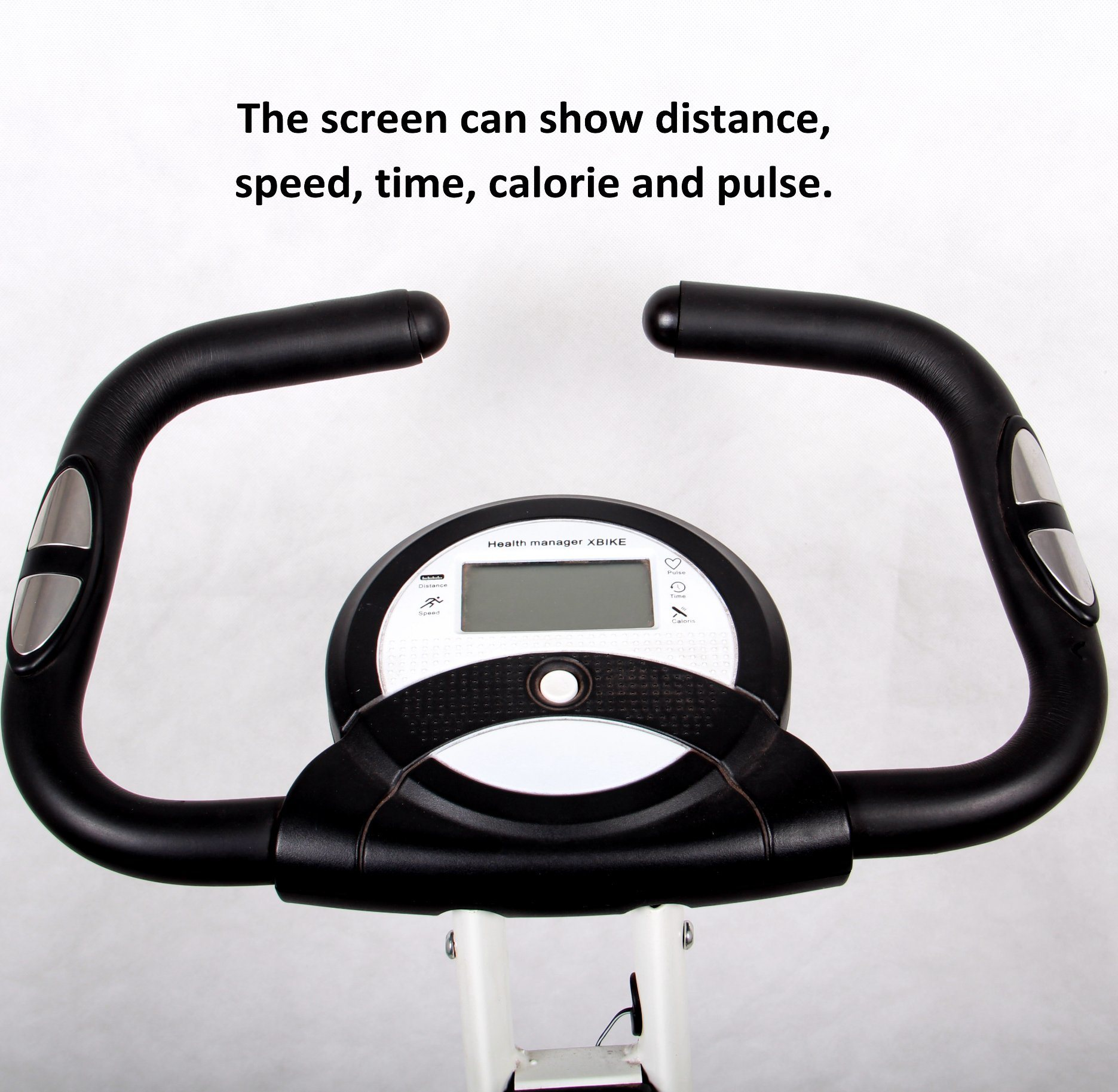 Upright Folding Comfortable Seat Compact Storage Fold up Magnetic Exercise Bike