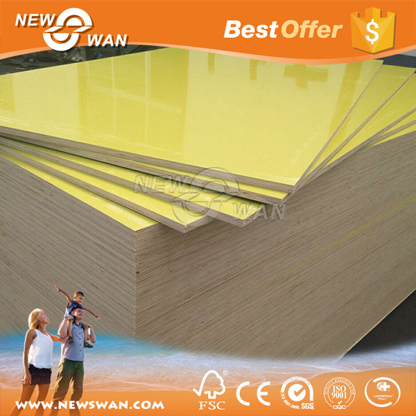 15mm Yellow Film Plastic Concrete Formwork for Construction