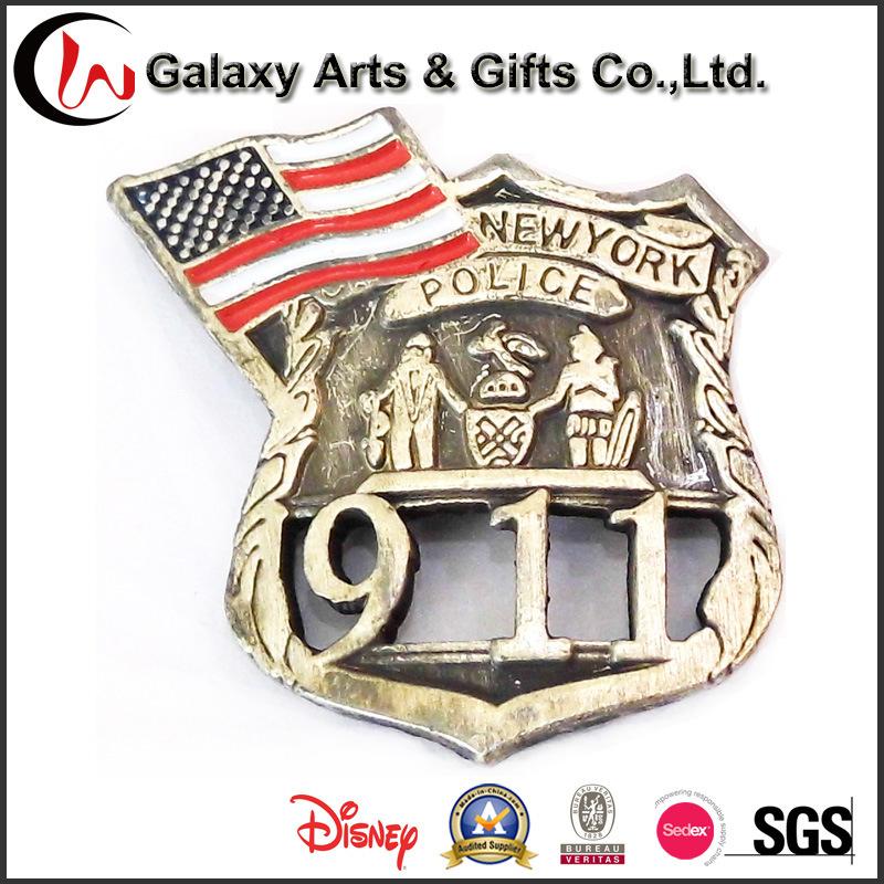 Railroad Police Dia Coasting with Star Design Custom Lapel Pins for Souvenir