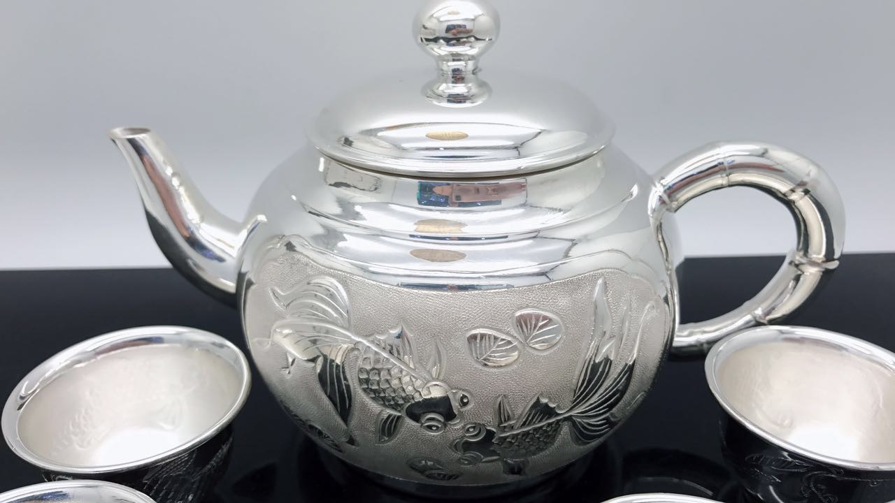 990 Fine Silver Teapot Authentic Handmade Silver Tea Factory Direct Sale