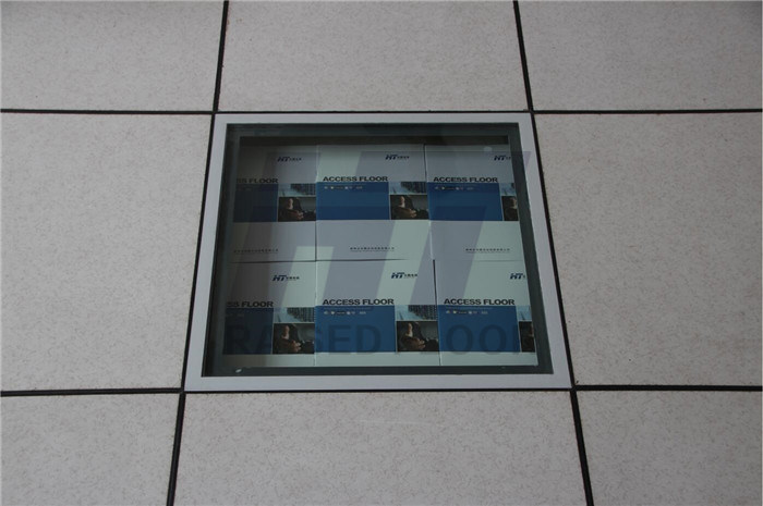 Tempered Glass Raised Flooring for Monitor and Decoration