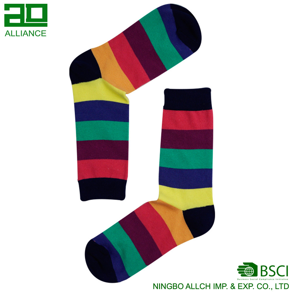 Funny Vivid Color Wholesale Custom Men Cotton Socks
