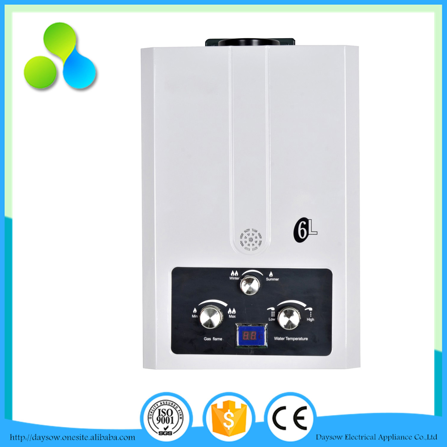 Portable Gas Water Heater, Natural Outdoor Camping Gas Water Heater