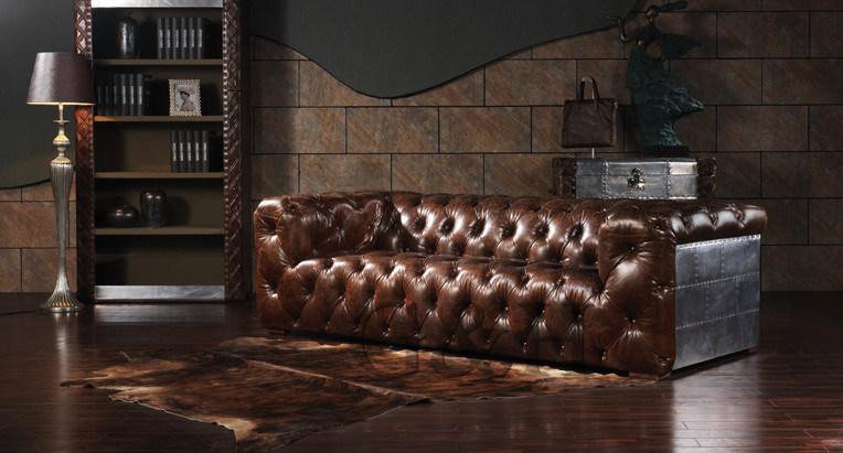 Living Room Retro Aluminum Sofas