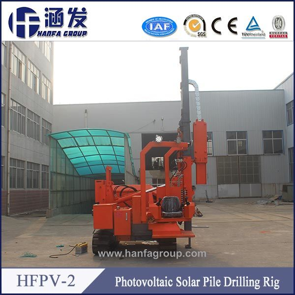 Solar Power Station Crawler Type 6m Hydraulic Press Pile Driver