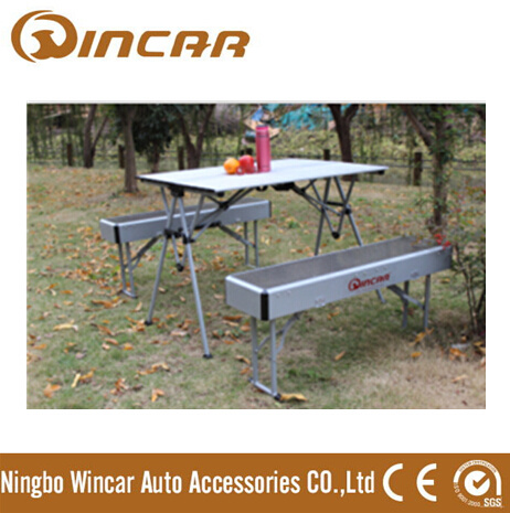 Expandable Portable Camping Table with Bench